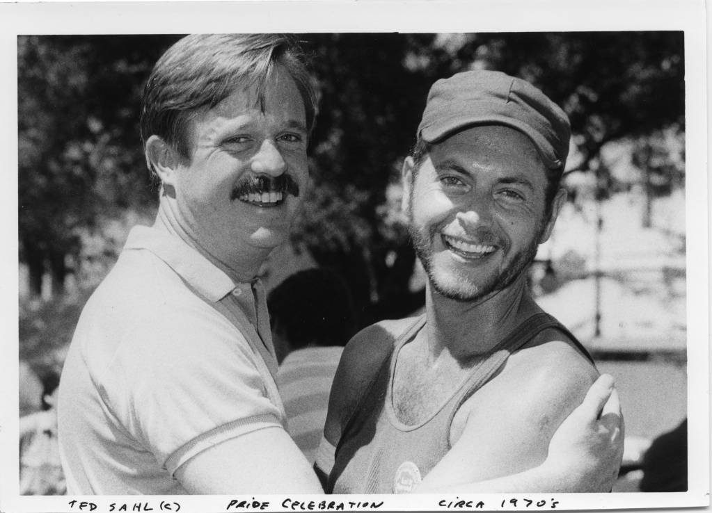 Armistead Maupin with a friend ca. 1970 Ted Sahl photographer