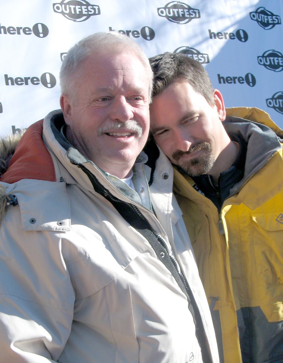 Armistead Maupin with his husband Chris Turner, 2006